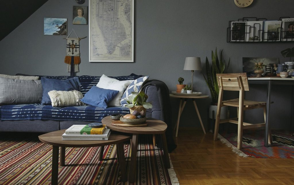 Ikea relaxed living area
